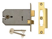 Union 2077 -5 Lever Horizontal Mortice 124m Polished Brass