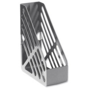 5 Star Office Magazine Rack File Foolscap - Grey