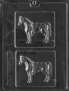 Home Chocolate Factory Horses On Plaques Chocolate Mould