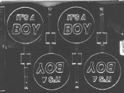 Home Chocolate Factory It'S A Boy Lollipop Chocolate Mould