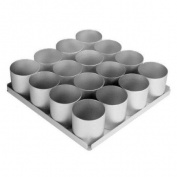 Alan Silverwood 16 pieceRound Multi Mini Cake Pan Set 6.4cm deep