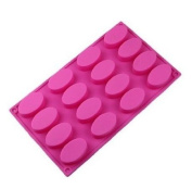 Wholeport Oval Silicone Baking Cake Mould Candle Mould Bakeware