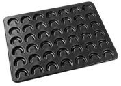 Zenker 7420 Baking Tray for Vanilla and Cheese Crescent-Shaped Cookies 42 x 32 cm