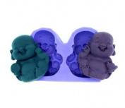 Wholeport Buddha Chocolate Mould Fondant Mould Silicone Chocolate Mould Clay Moulds Cake Decoration