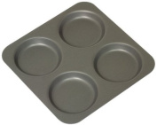 Mermaid 4 Cup Hard Anodised Yorkshire Pudding Tray