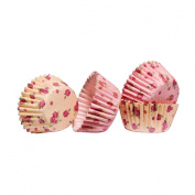 Rosaceous Cupcake Cases 100pcs Mini With Paper & Greaseproof & Rose Design