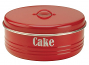 Typhoon Vintage Kitchen Red Air Tight Storage Metal Cake Tin
