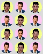 12 Michael Buble rice paper fairy / cup cake 40mm toppers pre cut decoration