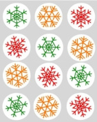 12 Snowflake Multi christmas xmas design rice paper fairy / cup cake 40mm toppers pre cut decoration