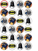 24 Batman Cupcake Toppers