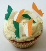 24 x Pre Cut St Patricks Day Irish Ireland Flag Butterfly Butterflies Fairy Muffin Cup Cake Toppers Decoration Edible Rice Wafer Paper