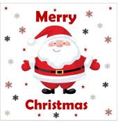 "Christmas Cake Topper Cute Santa Edible Icing Square 7.5"" 19cm"