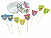 Miniamo Sir Bakealot Cupcake Cases and Toppers, Pack of 24