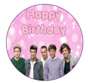 One Direction Happy Birthday Cake Topper edible sugar icing 19cm
