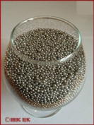 100g 2mm Edible Silver Balls by Baking Bling - Cup Cake Sprinkles Decorations