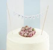 Vintage Mr & Mrs Cake Bunting - Wedding Cake Topper Decoration - Vintage Lace