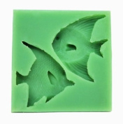 Wholeport 2 Fishes Fondant and Gum Paste Mould Silicone Clay Moulds Jewellery Moulds Cake Decoration Supplies Candy Mould