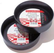 WonderBake set of 2 Loose Base 20cm Inch Round Victoria Sandwich Cake Tins for Baking
