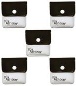 My Ashtray Five Black and White Pocket Ashtrays
