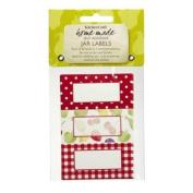 Self adhesive jam jar labels - Orchard motif - bag of 30