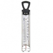 Stainless steel cooking thermometer