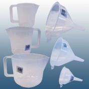 Home Brew & Winemaking - Balliihoo® 6 Piece Plastic Jug and Funnel Set