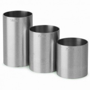 Set of 3 25ml, 35ml & 50ml Stainless Steel Thimble Bar Measure CE/Spirit Measure