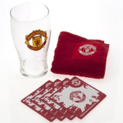 Official Manchester United FC Mini Bar Set - A great gift / present for men, boys, sons, husbands, dads, boyfriends for Christmas, Birthdays, Fathers Day, Valentines Day, Anniversaries or just as a treat for and avid football fan