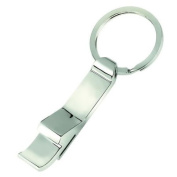 Silver Plated Keyring with Bottle Opener