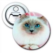Birman cat Bottle Opener Fridge Magnet