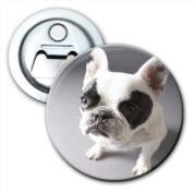 Cute Baby Puppy Bull Dog Bottle Opener Fridge Magnet