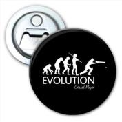 Evolution Of A Cricket Player Bottle Opener Fridge Magnet
