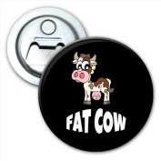 Fat Cow Funny Bottle Opener Fridge Magnet