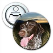 German Shorthaired Pointer Dog Tongue Out Bottle Opener Fridge Magnet