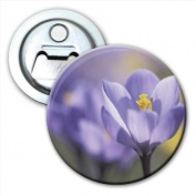 Purple Flower Bottle Opener Fridge Magnet