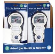 4-in-1 Bottle and Jar Opener / Handy Kitchen Gadget