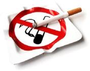 NO SMOKING ASHTRAY IN WHITE