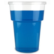 Katerglass Plastic Tumblers 8oz / 225ml | Pack of 50 | Disposable Plastic Cups, Polypropylene Tumblers