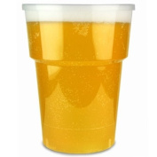 Katerglass Plastic Half Pint Tumblers CE 10oz / 280ml | Pack of 50 | Disposable Plastic Cups, Polypropylene Beer Tumblers