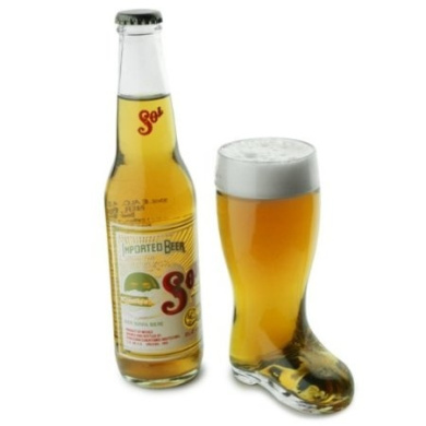 Glass Beer Boot 9.7oz / 275ml | German Beer Boot, Bierstiefel Boot, Novelty Beer Boot