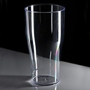 Virtually Unbreakable Heavy Duty Polycarbonate Tulip Plastic Pint Glass