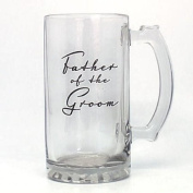 Top Quality Father of the Groom Glass Tankard in Gift Box Deep Engraved Text Not Printed