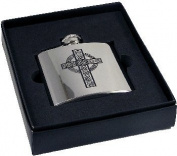 4oz Celtic Cross Hip Flask Engraved