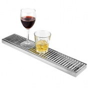 Stainless Steel Long Drip Tray 10cm x 50cm   BAR@drinkstuff Drip Tray, Back Bar Drip Tray, Beer Drip Tray
