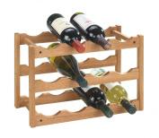 Wenko 18615100 Wine Rack Norway for 12 Bottles Made from Walnut 42 x 28 x 21 cm