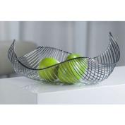 DESIGN FRUIT BASKET / BOWL chromed steel silver