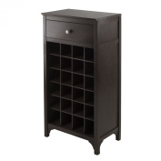 Winsome Trading 92738 Ancona Modular Wine Cabinet with One Drawer & 24-Bottle