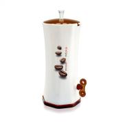 Snips Dosa Moka Espresso Coffee Grounds Plastic Dispensing Machine, White/ Brown