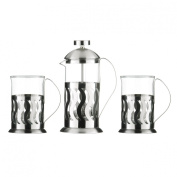Awesome Peru Design Cafetiere Set Made Of Stainless Steel With Heat Resistant Glass Insert