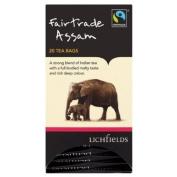 Lichfields Fairtrade Assam 20 Tea Bags 40g
